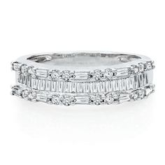 1 ct. tw. Diamond Anniversary Band in 10K White Gold available at #HelzbergDiamonds