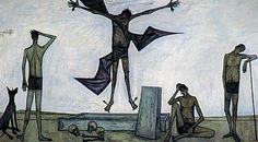 キリストの受難:復活  1951年  油彩、カンヴァス ベルナール・ビュフェ美術館  http://www.buffet-museum.jp/e/