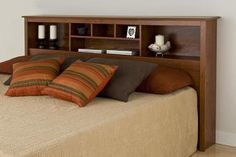 Headboard with cubby holes!