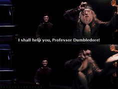 He'll push you out of the way if it means stealing HIS spotlight. | Community Post: 14 Ways Dumbledore Was The Sassiest Wizard Of All Time