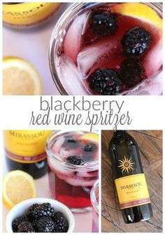 The perfect light and delicious blackberry red wine spritzer!