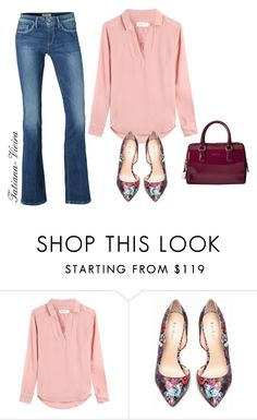 """1"" by tatiana-vieira ❤ liked on Polyvore featuring Pepe Jeans London, Velvet, Bebe and Furla"