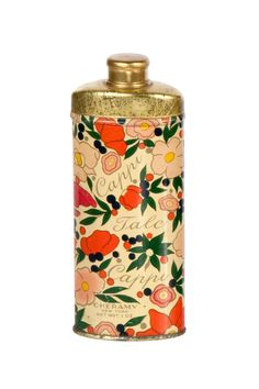 Vintage Art Nouveau Capri Talcum Powder Tin