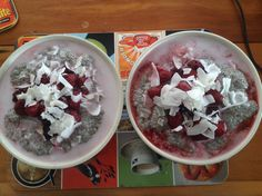 Our chia porridge (paleo)