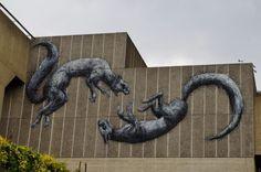 Nuevo mural de ROA en Londres