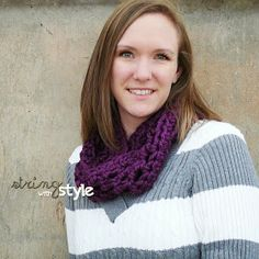 Q is for Quick Infinity Scarf - FREE PATTERN - Designed by String With Style