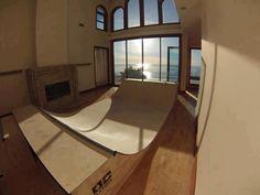nice views indoor miniramp.