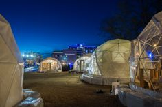 20' domes used as temporary retail spaces for the Holiday Pop Up Shops in Oklahoma City. http://www.okcpopups.com/ TODD SCOTT BALLJE 2013