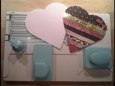 How To Make A Heart Using The Alphabet Punch Board - YouTube