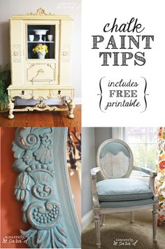 Tons of great chalk paint tips all in one place!  And it includes a free printable of all those tips!