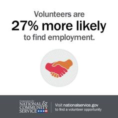 Need a job? CNCS has new research that shows a link betwen volunteering and employment. #VolunteersGetJobs