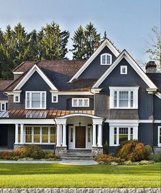 I like the color with the large, white trim around the windows.