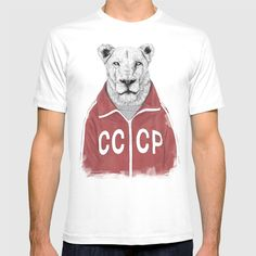 Check out society6curated.com for more! @society6 #fashion #style #tshirt #shirt #clothing #accessory #accessories #gift #idea #buy #shop #shopping #sale #fun #art #awesome #drawing #illustration #design #lion #cccp #sovietunion #lioness
