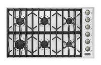 """Viking Professional Series 36"""" Stainless Steel Gas Cooktop"""