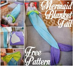Mermaid Tail Blanket with Free Pattern