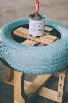 Tire Furniture, Garage Furniture, Recycled Furniture, Home Decor Furniture, Rope Tire Ottoman, Tire Craft, Reuse Old Tires, Small Balcony Decor, Diy Crafts For Home Decor