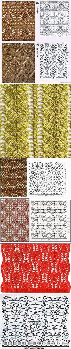 Delicate patterns crochet.