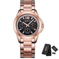 $22.74 - Rose Gold Elegant Lady Quartz Wristwatch (Buy this item for FREE SHIPPING) Elegant Woman, Gold Watch, Luxury Branding, Quartz, Rose Gold, Women's Watches, Band, Clock, Stainless Steel
