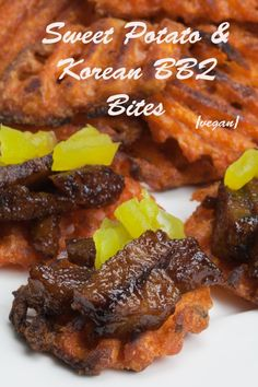 Virtual Vegan Potluck: Sweet Potato and Korean BBQ Bites Korean Appetizers, Vegan Appetizers, Vegan Snacks, Vegan Vegetarian, Vegetarian Recipes, Veg Recipes, Vegan Food, Sweet Potatoe Bites, Potato Bites