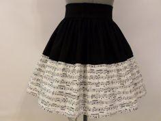 Partituras / amantes de la música de la falda por ComplementsByJo