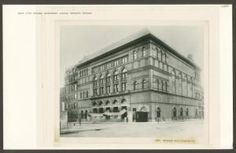 Carnegie Hall, 57th Street and Seventh Avenue, southeast corner. NYPL.