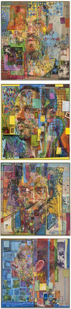 ART Towering New Mixed Media Portraits by Andrew Salgado