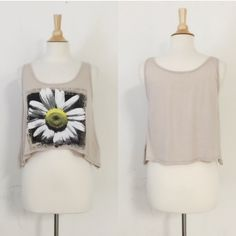 CLEARANCE  Beautiful Daisy T-Shirt great for lounging around. Top quality and excellent graphics and style. This is a crop top! April Spirit Tops Tank Tops