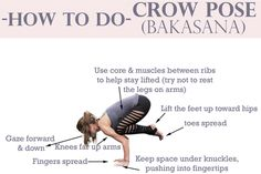 yogabycandace:  How to do crow pose.