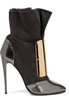 GIUSEPPE ZANOTTI Embellished leather and suede boots. #giuseppezanotti #shoes #boots