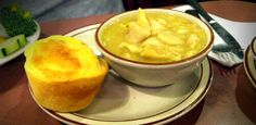 Chicken and Dumplings with Cornbread at Don's Alley in Del City Oklahoma