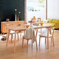 KENSAY dining table, with or without extensions, Nordic inspiration, structure in solid oak, a high quality product - deco and design