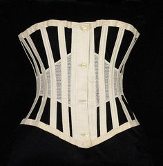 Corset c 1872 Brooklyn Museum Costume Collection at The Metropolitan Museum of Art, Vintage Corset, Vintage Underwear, Victorian Corset, Victorian Fashion, Vintage Fashion, Corsets, Gail Carriger, Vintage Outfits, 1870s Fashion