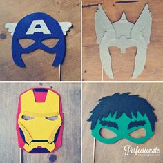 Avengers Photo Props // Photo Booth Props // Super Hero Props // Super Hero Mask // Thor Helmet // Ironman // Captain America // Hulk via Etsy