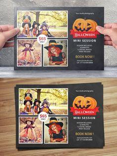 Halloween Mini Session Template-V393. Flyer Templates. $7.00