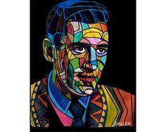 JD Salinger Original Painting Abstract Modern by HeatherGallerArt, $250.00