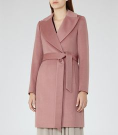 REISS Forbes - Womens Textured Coat in Red