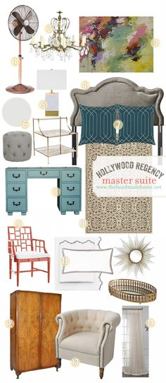 hollywood regency master suite - the handmade home