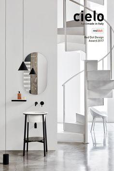 CATINO tondo ha vinto Red dot design award 2017 - design by Andrea Parisio e Giuseppe Pezzano per CERAMICA CIELO