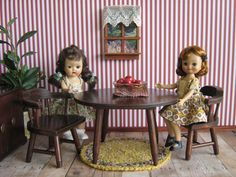 Vintage Hall's Doll Furniture  Table and Chairs For by TheToyBox, $40.00