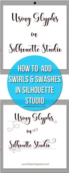 How to use glyphs in Silhouette Studio - Step by Step Instructions - Drawing Designs Plotter Silhouette Cameo, Silhouette Fonts, Silhouette Cameo Tutorials, Silhouette School, Silhouette Cutter, Silhouette Cameo Machine, Silhouette Projects, Silhouette America, Silhouette Design Studio