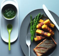 Crispy skin-on salmon with polenta chips | News | Lorraine Pascale