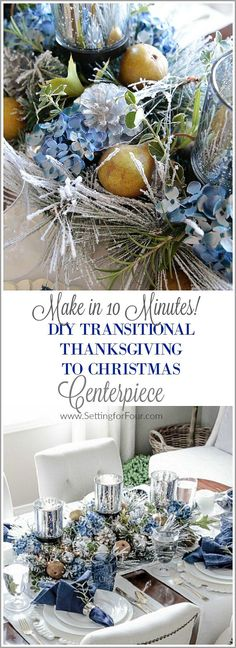 Easy Transitional Thanksgiving To Christmas Centerpiece With Printable Checklist