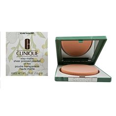 Clinique Stay-Matte Sheer Pressed Powder, 02 Stay Neutral, Ounce ** To view further for this item, visit the image link. (This is an affiliate link) Best Compact Powder, Best Powder, Makeup Brush Set, Face Makeup, Makeup Designs, Face Powder, Diy Skin Care, Best Face Products, Makeup Tools