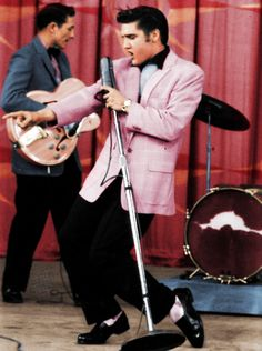 Elvis knew about pink before rock n roll did.