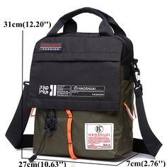 Dernier Nylon imperméable à l'eau couleurs assorties sacs à bandoulière portables Crossbody sacs pour hommes - NewChic