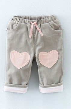 Mini Boden Heart Patch Pants (Baby Girls & Toddler Girls) available at #Nordstrom