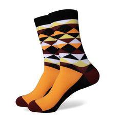 Match-Up men colorful combed cotton socks Diamond styles – modlilj Patterned Socks, Striped Socks, New Pant, Business Casual Men, Mens Fashion Week, Colorful Socks, Cotton Socks, Stylish Men, Men Dress