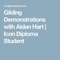 Gilding Demonstrations with Aidan Hart | Icon Diploma Student