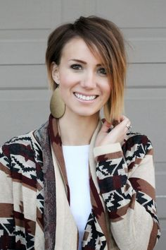 DIY ombre bob with an asymetrical cut