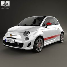 Fiat 500 Abarth 2012 3d model from humster3d.com. Price: $75